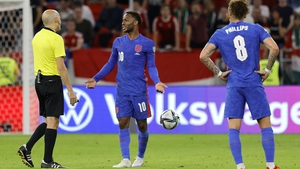 Raheem Sterling opened the scoring in a 4-0 rout of Hungary