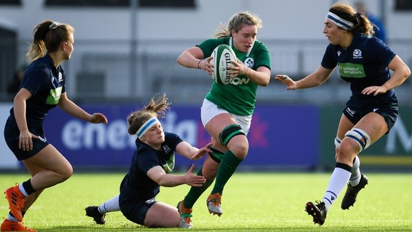 Edel McMahon during Ireland's last meeting with Scotland in February 2020