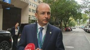 Micheál Martin said that Joe Biden and Antonio Guterres gave strong presentations today