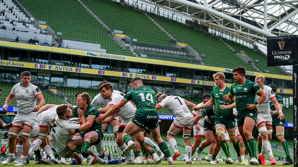 Connacht and Ulster met at the Aviva Stadium behind-closed-doors in 2020