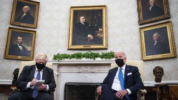 Boris Johnson and Joe Biden met at the White House