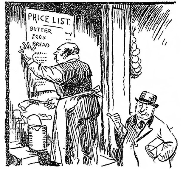 Century Ireland 214 - 'Putting up the prices: a cartoon on high prices from the Sunday Independent Photo: Sunday Independent, 25 September 1921