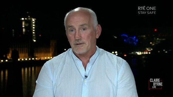 Barry McGuigan speaking to Claire Byrne