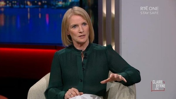 Joanna Donnelly speaking to Claire Byrne