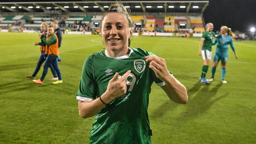 Lucy Quinn finally got to make her Ireland debut against Australia at Tallaght Stadium
