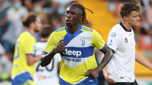 Moise Kean scored his first goal for Juve since returning to Turin on loan from Everton