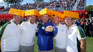 (L to R): Lee Westwood, Ian Poulter, Padraig Harrington, Rory McIlroy and Paul Casey