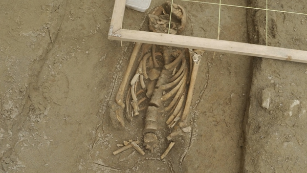 A number of human skeletons, just 12 centimetres below the existing footpaths were discovered