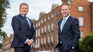 Danny McCoy, Ibec CEO and Frank Gleeson, the organisation's new President