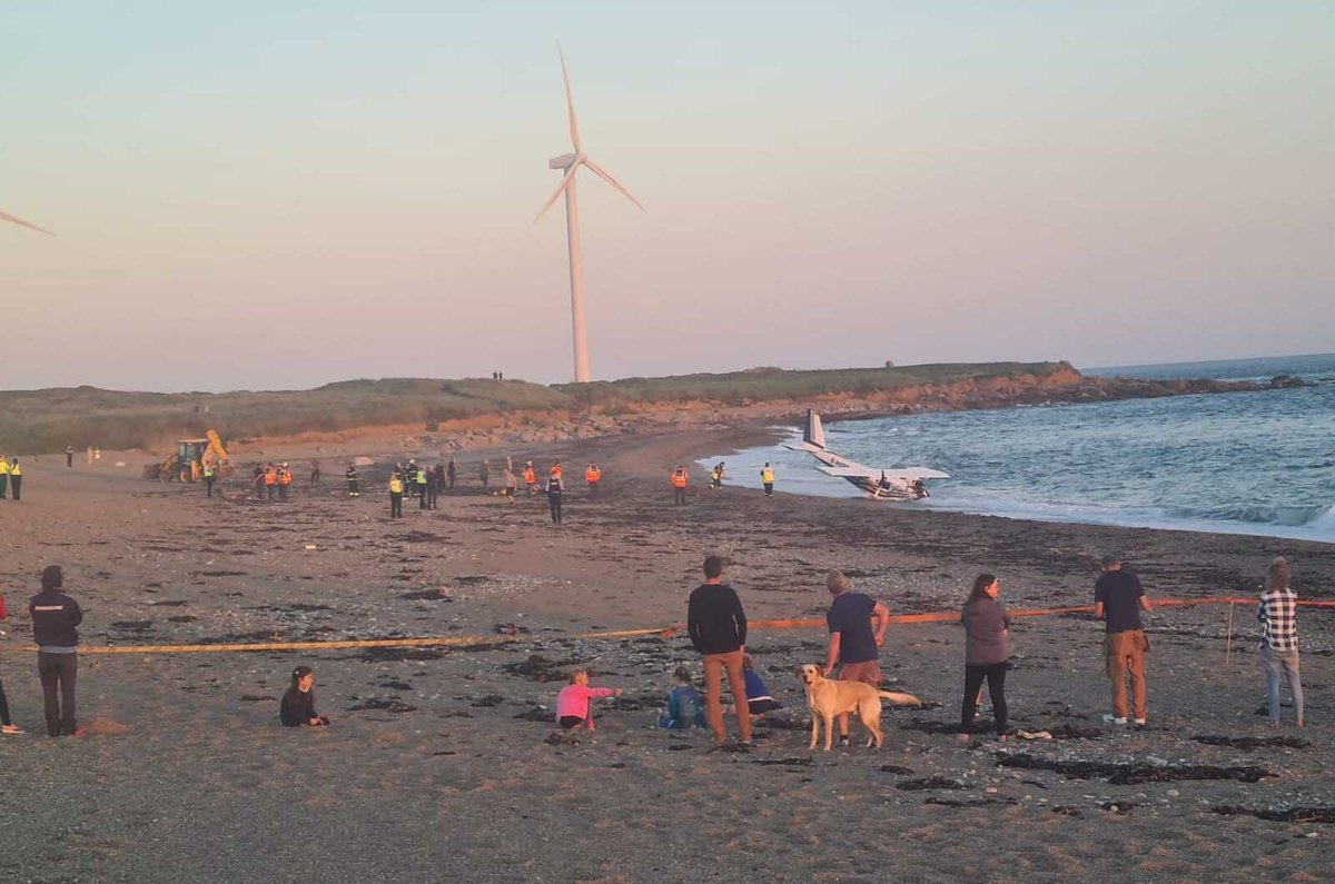 A small aircraft has crashed off Carnsore Point Co Wexford