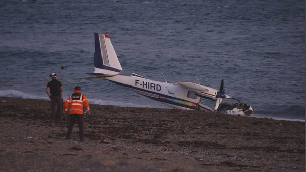 The four occupants of the aircraft sustained non life-threatening injuries