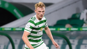 Liam Scales in action at Celtic Park
