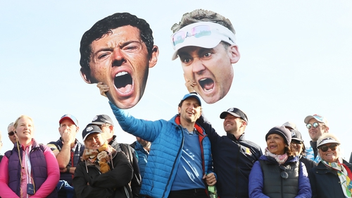 Rory McIlroy and Ian Poulter take on Patrick Cantlay and Xander Schauffele