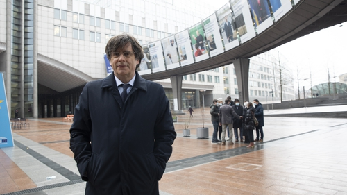 Mr Puigdemont was in exile in Belgium since 2017