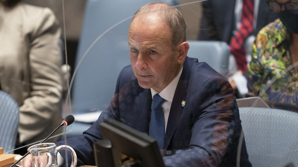 Micheál Martin yesterday chaired a debate of the UN Security Council on the issue of climate and security
