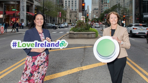 Tourism Minister Catherine Martin and Alison Metcalfe, Tourism Ireland's Head of North America in Chicago