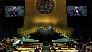 Taoiseach Micheál Martin addressed the United Nations General Assembly