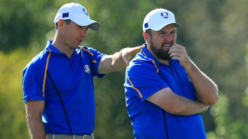 Rory McIlroy and Shane Lowry lost 4&3 to Harris English and Tony Finau on Friday