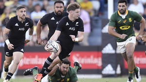 Jordie Barrett kicked 14 points as New Zealand regained the Rugby Championship