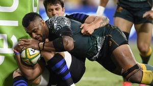Samu Kerevi powers over for Australia's second try