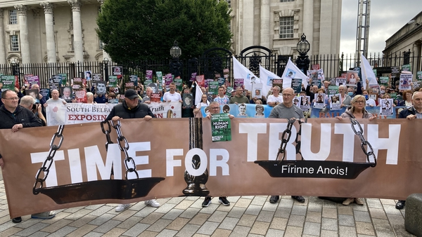 The Time for Truth campaign protesting in Belfast