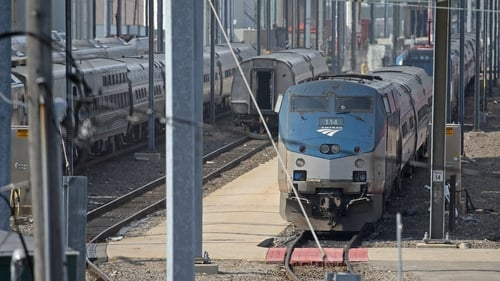 The US rail network Amtrak suffers from chronic underfunding (file pic)