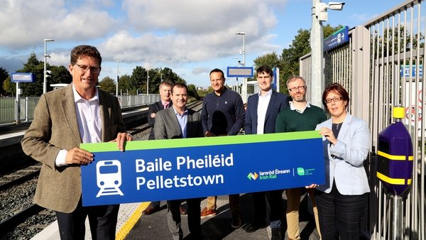 Eamon Ryan was speaking at the opening of Ireland's newest train station in Pelletstown in Dublin