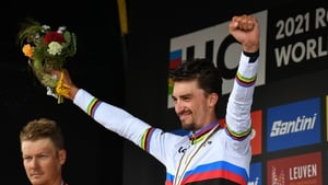 Julian Alaphilippe becomes just the seventh rider to win back-to-back titles