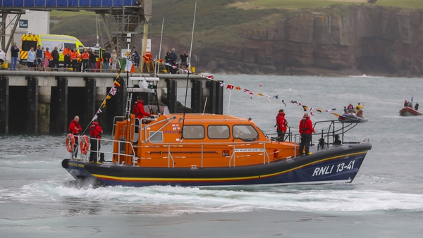 The new Shannon class William and Agnes Wray in Dunmore East this afternoon