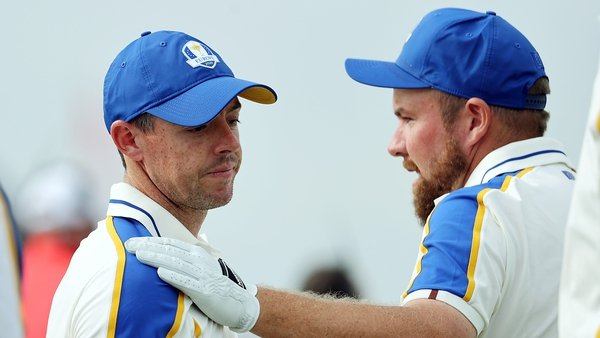 McIlroy and Shane Lowry were part of Europe's challenge over the three days