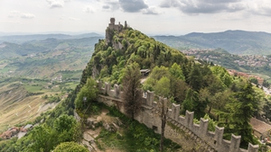 The state of San Marino is situated on a mountainside in the centre of Italy