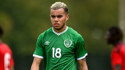 Tyreik Wright in action for the Republic of Ireland U21s against Switzerland last May