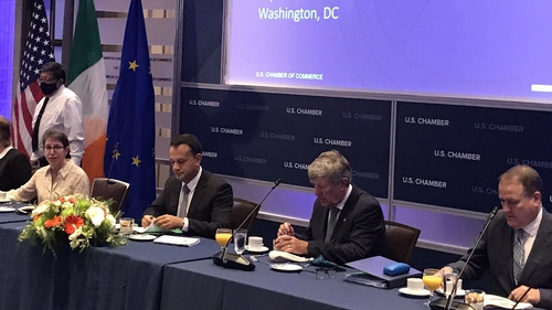 Leo Varadkar attending a roundtable discussion at the US Chamber of Commerce today