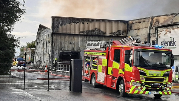 The fire alarm sounded at approximately 11am (Pic: Gearoid Keegan)