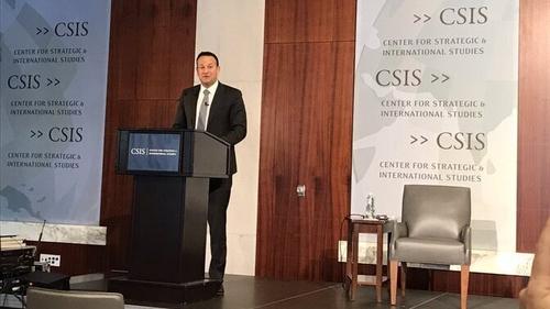 Leo Varadkar addressed the Center for Strategic and International Studies