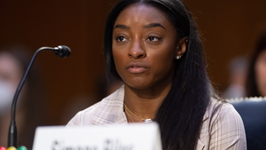 Simone Biles testifies during a Senate Judiciary Committee on the Inspector General's report on the FBI handling of the Larry Nassar investigation