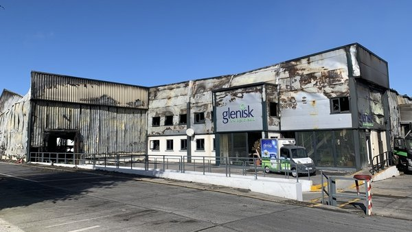 The fire started in the yogurt production facility in Offaly