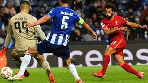 Mohamed Salah netted in each half