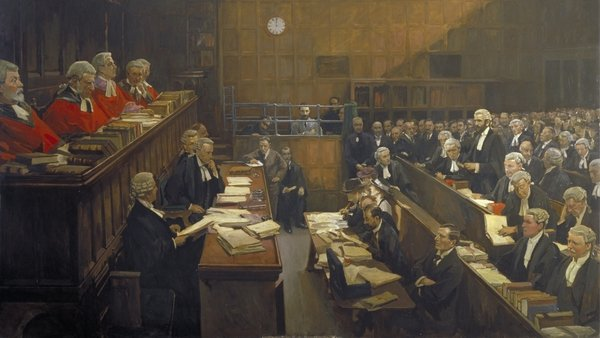 John Lavery'sHigh Treason, Court of Criminal Appeal: The Trial of Sir Roger Casement 1916