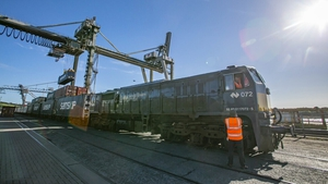 A new rail freight service was launched today at the Port of Waterford (Pic: PJ Browne Photography)
