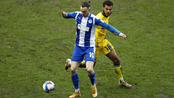 Will Keane in action for Wigan earlier this season