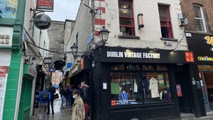 The building in Dublin city centre contains four shops