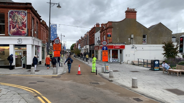 Lower George's Street has reverted to its original traffic layout