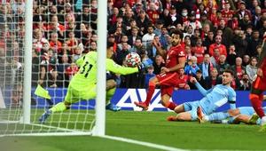 Mo Salah firing Liverpool ahead with a stunning second half goal