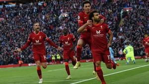 Mohamed Salah remains happy at Liverpool