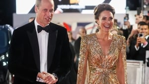 The Duchess of Cambridge was going for gold on the red carpet.