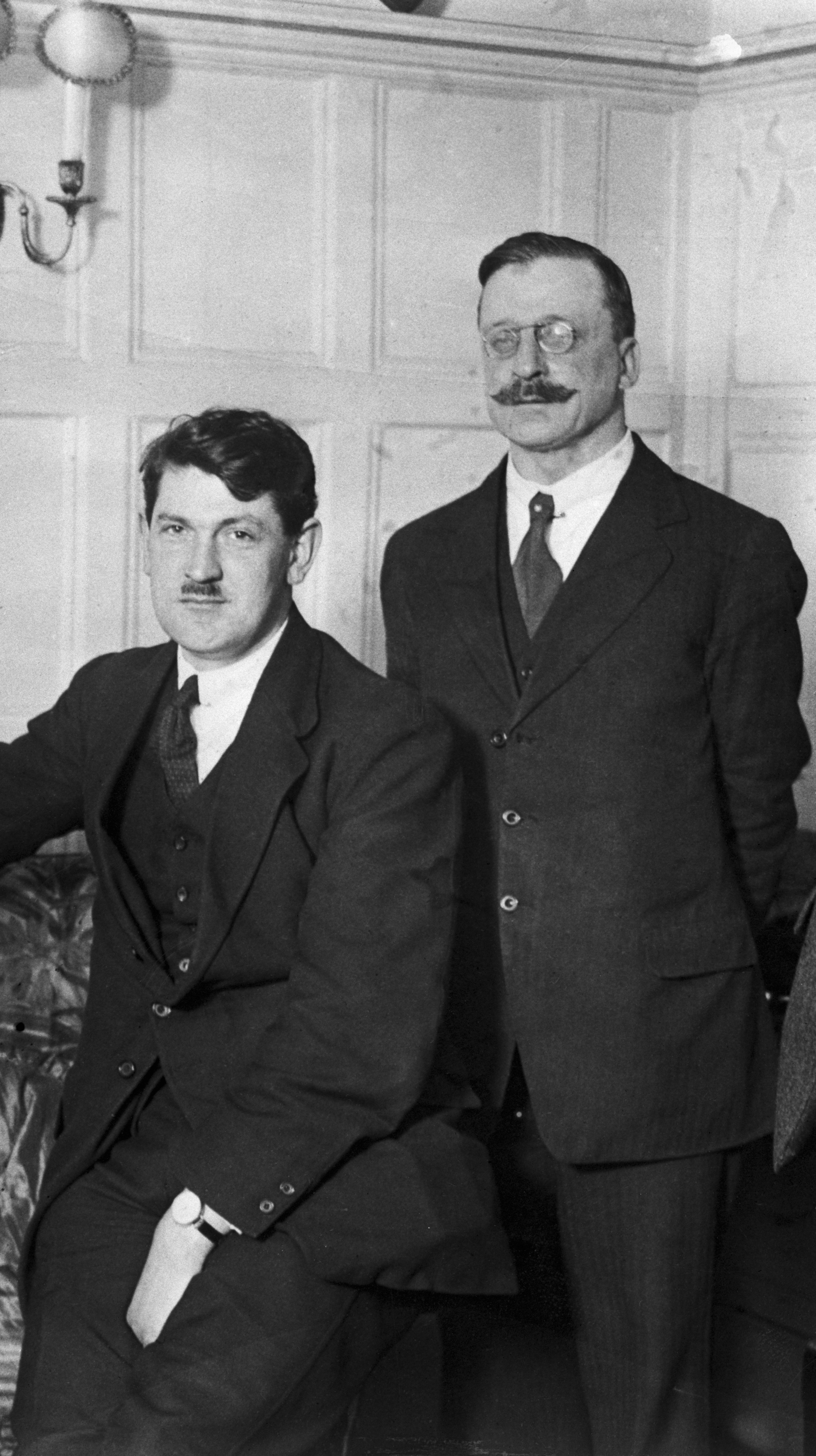 Image - Griffith and Collins in London. The British had determined these were the men who needed to be sold the treaty terms (Credit: Getty Images)