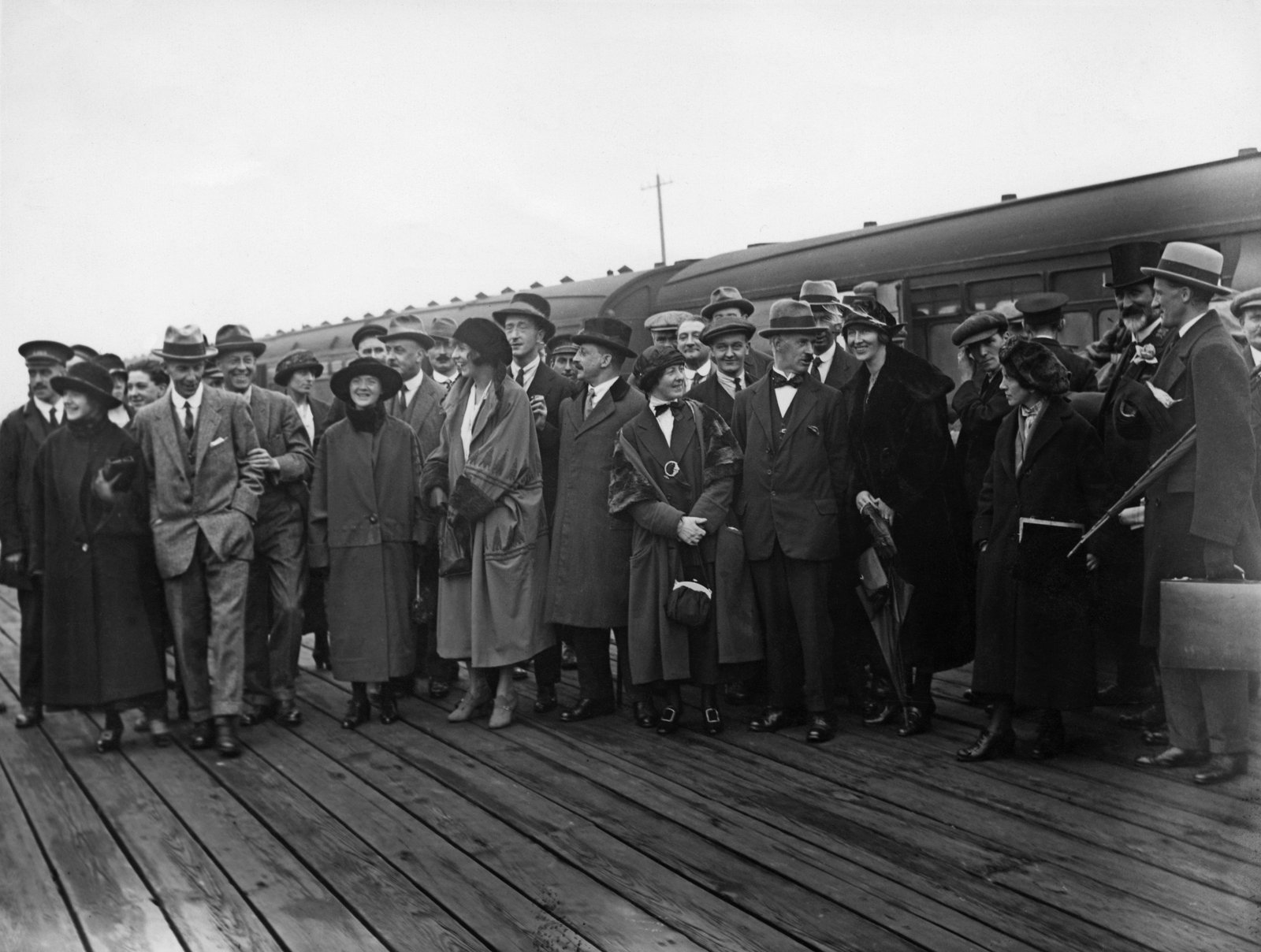 Image - Some idea of the size of the Irish delegation can be got from this photo, taken at Holyhead train station (Credit: Getty Images)