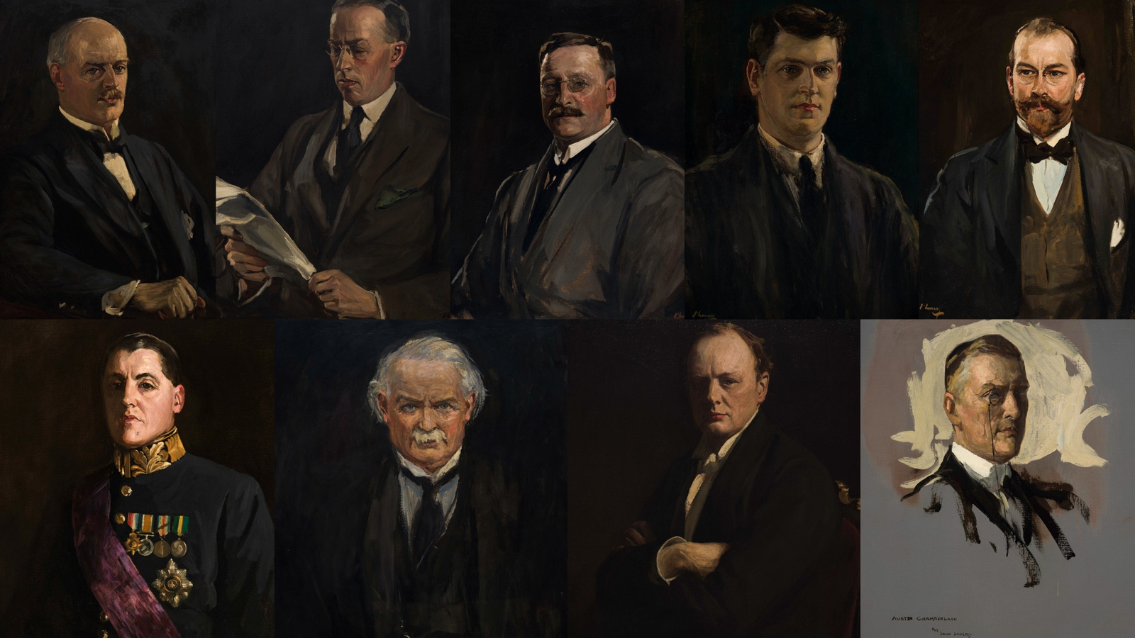 Image - One of the leading painters of the era, John Lavery, had no trouble persuading the negotiators to sit for their portraits in his London studio. These portraits have not been seen together for almost a century
