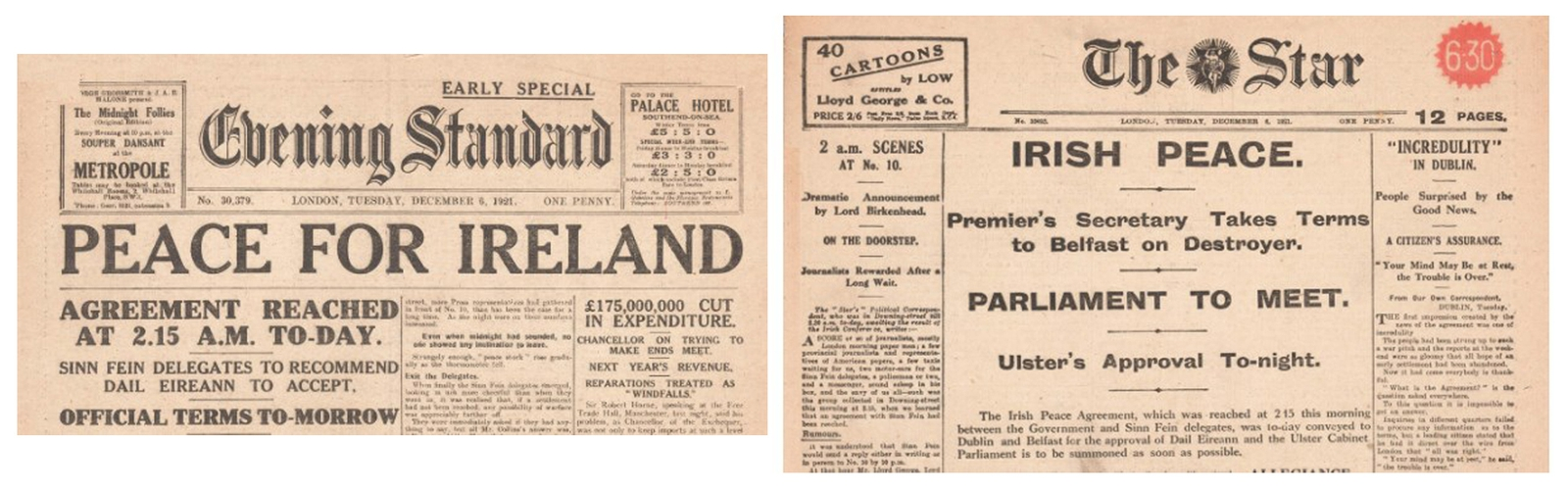 Image - Newspapers in Dublin and London managed to hit the streets with overnight specials that very morning. Credit: Alamy Images.